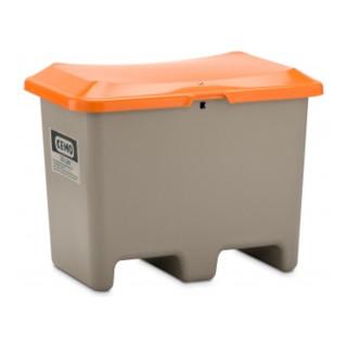 Cemo Streugutbehälter Plus3 unterfahrbar ohne Entnahme grau/orange