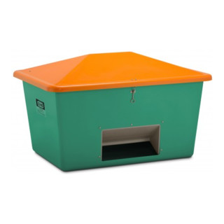 Cemo Streugutbox mit Entnahme grün/orange