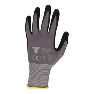 STIER Montagehandschuhe Flex Ultra nitrilbeschichtet grau/schwarz Größe 8