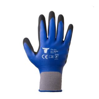 STIER Montagehandschuhe Flex Dry nitrilbeschichtet blau/schwarz Größe 8