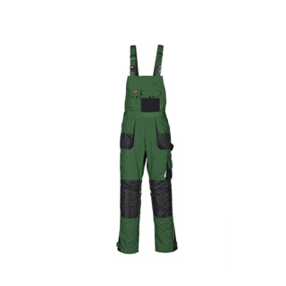 Terratrend Job Revolution Latzhose grün/schwarz