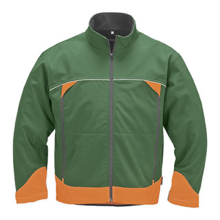 Canadian Line Softshelljacke forstgrün orange