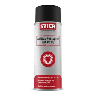 STIER Weißes Fettspray mit PTFE  langzeitschmierung