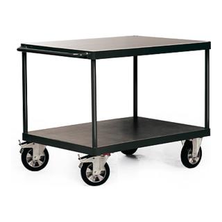STIER Schwerlast-Tischwagen Industrie 2 Ladeflächen Tragkraft 1200 kg
