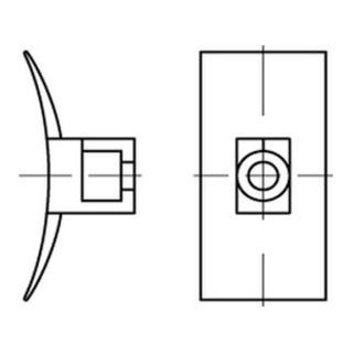 PA 6.6 B = max. 8 Befestig-Sockel, natur, SB LKC S