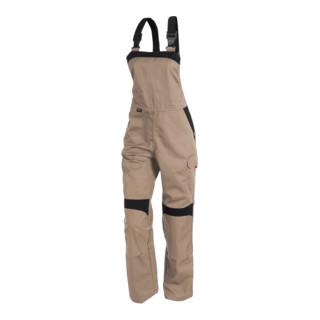 Kübler Inno Plus-Dress Latzhose 3856 sandbraun/schwarz