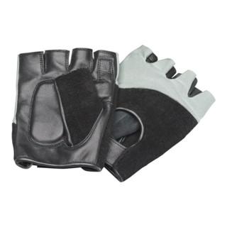 Industrial Quality Supplies Antivibrationshandschuhe mit Klett ohne Fingerkuppen schwarz/grau