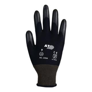 Industrial Quality Supplies Handschuhe PU-teilbeschichtet flüssigkeitsabweisend weiß