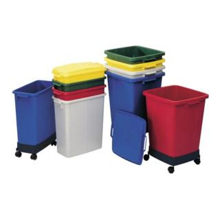 Abfall-/Wertstoffsammler 90l blau Kunststoff H600xB485xT510mm