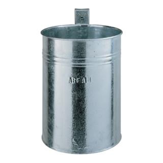 Abfallbehälter 35l verz. f.Wand/Pfosten H.425xD.330mm m.Schlüssel