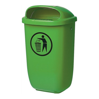 Abfallbehälter m. Regenhaube