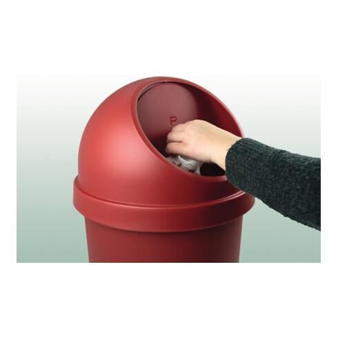 Abfallbehälter H375xØ214mm 6l lichtgrau HELIT