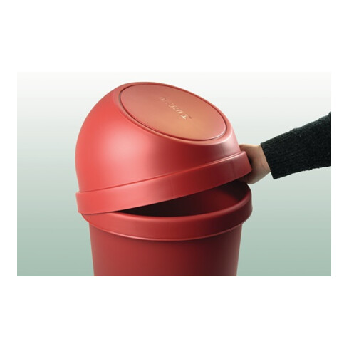 Abfallbehälter H490xØ253mm 13l schwarz HELIT
