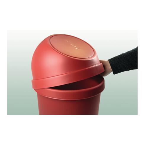 Abfallbehälter H615xØ312mm 25l schwarz HELIT