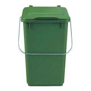 Abfallsammler 10l Kunststoff braun mit Klappdeckel für Bioabfall