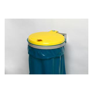 Abfallsammler B400xT510mm 120 l Deckel gelb (KS) VAR
