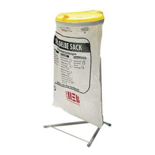 Abfallsammler f.120l Säcke H920xB500xT530mm Gestell grau mit Ku.-Deckel gelb