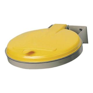 Abfallsammler f.120l verz. 400x510mm m.Stahldeckel Einwurf-D.385mm