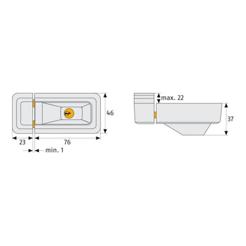 ABUS Fenster-Zusatzsicherung 3010 B AL0125