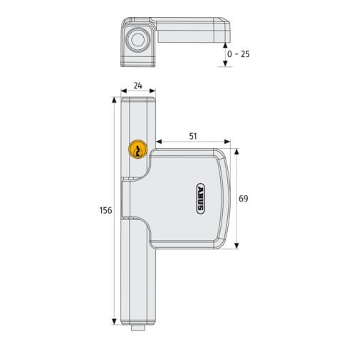 ABUS Fenster-Zusatzsicherung FTS206 S AL0125