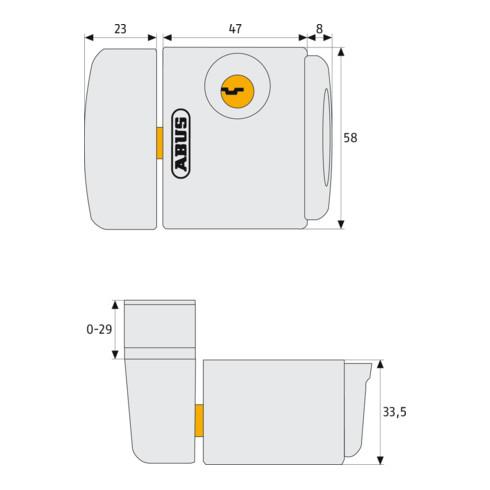 ABUS Fenster-Zusatzsicherung FTS3003 B AL0125