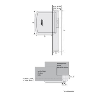 ABUS Scharnierseitensicherung FAS101 S EK