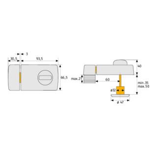 ABUS Tür-Zusatzschloss 2110 W B/DFNLI