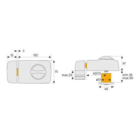 ABUS Tür-Zusatzschloss 7010 S EK