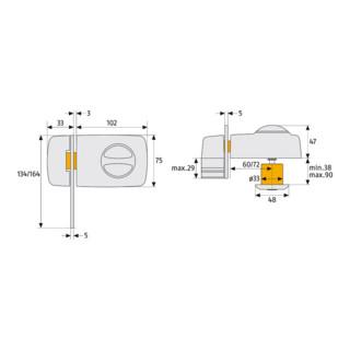 ABUS Tür-Zusatzschloss 7030 S EK
