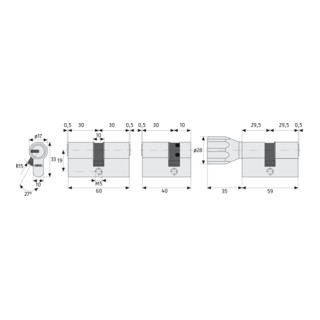 ABUS Türzylinder D6XNP vs.