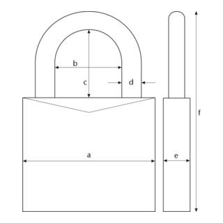 ABUS Vorhangschloss 64TI/30 Triples