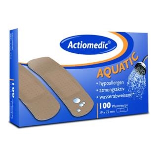 Actiomedic aquatic Pflaster Strips, 19 x 72 mm, hautfarben, Pack à 100 Stück
