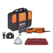 AEG Netz-Multitool OMNI300-KIT1 300W inkl. Multifunktionskopf OMNI-MTX, Multitool-Zubehör, Transporttasche