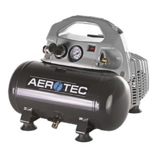 Aerotec Kompressor Airliner Silent 140L/70L/6L/8bar/0,4kW tragbar 230V 50Hz