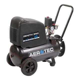 Aerotec Kompressor Zenith 260 PRO, ölfrei / 240L / 140L / 10bar / 24L / 1,8kW / fahrbar / 230V