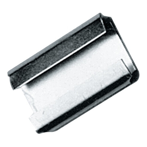 Agrafe de fermeture l.13 mmxL28 mm pour ruban d'emballage en acier de 13 mm