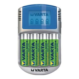Akkuladegerät LCD Charger f.4 Akkus 4xAA 2600 mAh,12V Adapter,USB Kab.VARTA