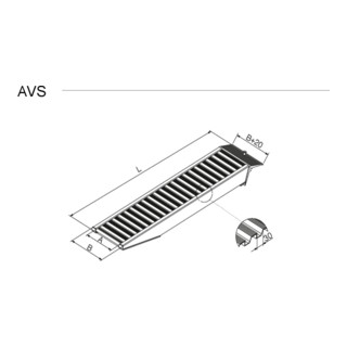 Altec Verladeschiene AVS 150 ohne Rand