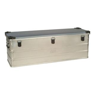 Aluminiumbox 163l 1182X385X412mm m.Gummidichtung 9,5kg m.Stapelecken