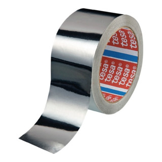 Aluminiumklebeband tesa 50565 ohne Liner schwer entflammbar UL510 Rolle 50mx50mm