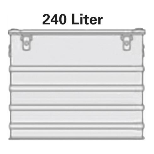 Alutec Aluminiumbox 240l 782x585x622mm m.Gummidichtung 10,0kg m.Stapelecken