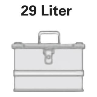 Alutec Aluminiumbox 29l 432x335x277mm m.Gummidichtung 3,25kg m.Stapelecken