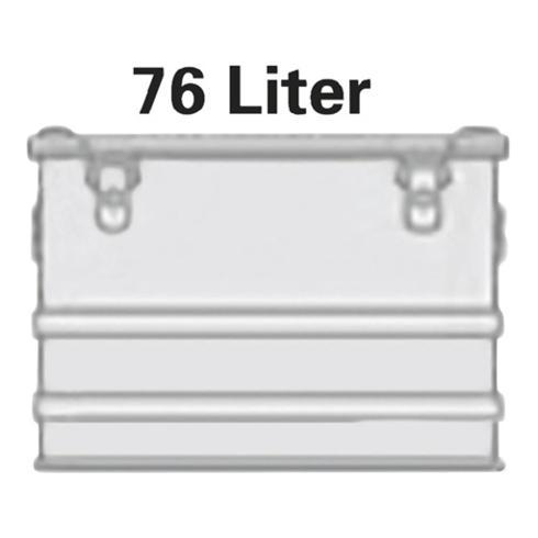 Alutec Aluminiumbox 76l 592x388x409mm m.Gummidichtung 5,3kg m.Stapelecken