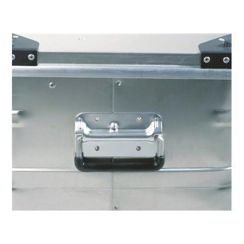 Alutec Aluminiumbox 91l 782x385x379mm m.Gummidichtung 6,1kg m.Stapelecken