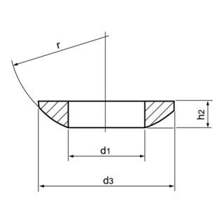 AMF Kugelscheibe DIN 6319C