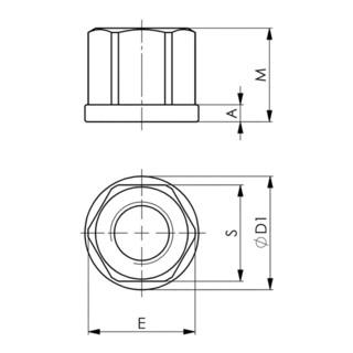 AMF Sechskantmutter DIN 6331 Stahl