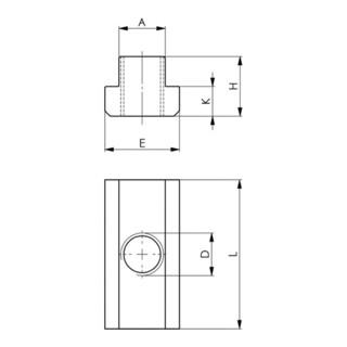 AMF DIN 508 T-Nutenstein lange Form