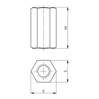 AMF Verlängerungsmutter Nr. 6334 M48 SW 75mm