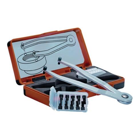 AMF Verstellbarer Stirnlochschluesselsatz 758 S Zapfen-D. 1,5-2-2,5-3-4mm
