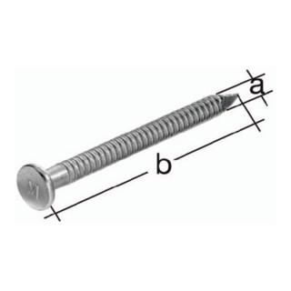 Ankernagel bauaufsichtlich zugelassen D.4,0x50mm Stahl roh verzinkt